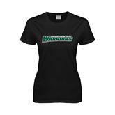 Ladies Black T Shirt-Wisconsin Lutheran College Warriors