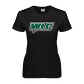 Ladies Black T Shirt-WLC w/ Sword