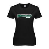 Ladies Black T Shirt-Mom - Wisconsin Lutheran College Warriors