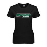 Ladies Black T Shirt-Alumni - Wisconsin Lutheran College Warriors