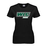 Ladies Black T Shirt-Mom - WLC