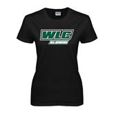 Ladies Black T Shirt-Alumni - WLC