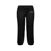 ENZA Ladies Black Banded Fleece Capri-Warriors