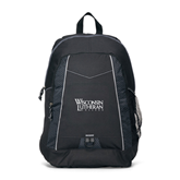 Impulse Black Backpack-Wisconsin Lutheran College Stacked