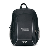 Atlas Black Computer Backpack-Wisconsin Lutheran College Stacked