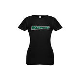 Youth Girls Black Fashion Fit T Shirt-Warriors