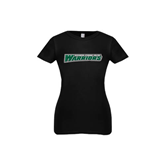 Youth Girls Black Fashion Fit T Shirt-Wisconsin Lutheran College Warriors