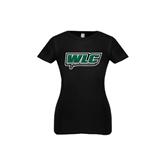 Youth Girls Black Fashion Fit T Shirt-WLC w/ Sword