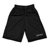 Russell Performance Black 9 Inch Short w/Pockets-Warriors
