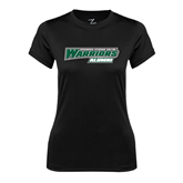 Ladies Syntrel Performance Black Tee-Alumni - Wisconsin Lutheran College Warriors
