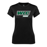 Ladies Syntrel Performance Black Tee-Mom - WLC