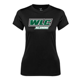 Ladies Syntrel Performance Black Tee-Alumni - WLC