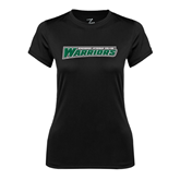 Ladies Syntrel Performance Black Tee-Wisconsin Lutheran College Warriors