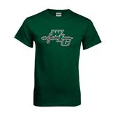 Dark Green T Shirt-WLC Diagonal w/ Sword