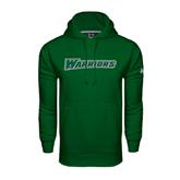 Under Armour Dark Green Performance Sweats Team Hoodie-Warriors
