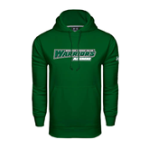 Under Armour Dark Green Performance Sweats Team Hoodie-Alumni - Wisconsin Lutheran College Warriors