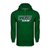 Under Armour Dark Green Performance Sweats Team Hoodie-Alumni - WLC