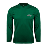 Syntrel Performance Dark Green Longsleeve Shirt-WLC Diagonal w/ Sword