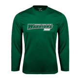 Syntrel Performance Dark Green Longsleeve Shirt-Dad - Wisconsin Lutheran College Warriors