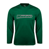 Syntrel Performance Dark Green Longsleeve Shirt-Wisconsin Lutheran College Warriors