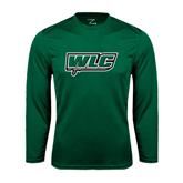 Syntrel Performance Dark Green Longsleeve Shirt-WLC w/ Sword