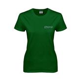Ladies Dark Green T Shirt-Warriors