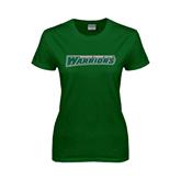 Ladies Dark Green T Shirt-Wisconsin Lutheran College Warriors