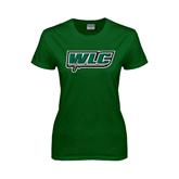 Ladies Dark Green T Shirt-WLC w/ Sword