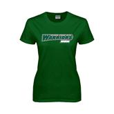 Ladies Dark Green T Shirt-Mom - Wisconsin Lutheran College Warriors