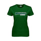 Ladies Dark Green T Shirt-Alumni - Wisconsin Lutheran College Warriors