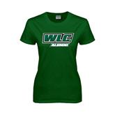Ladies Dark Green T Shirt-Alumni - WLC