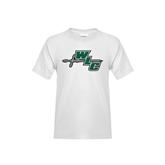 Youth White T Shirt-WLC Diagonal w/ Sword