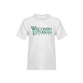 Youth White T Shirt-Wisconsin Lutheran College Stacked