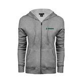 ENZA Ladies Grey Fleece Full Zip Hoodie-Warriors