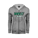 ENZA Ladies Grey Fleece Full Zip Hoodie-Alumni - WLC