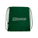 Dark Green Drawstring Backpack-Warriors