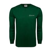 Dark Green Long Sleeve T Shirt-Warriors