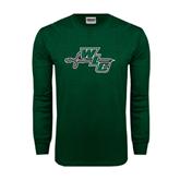 Dark Green Long Sleeve T Shirt-WLC Diagonal w/ Sword