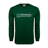 Dark Green Long Sleeve T Shirt-Wisconsin Lutheran College Warriors