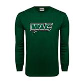 Dark Green Long Sleeve T Shirt-WLC w/ Sword