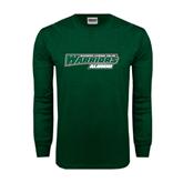 Dark Green Long Sleeve T Shirt-Alumni - Wisconsin Lutheran College Warriors