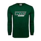 Dark Green Long Sleeve T Shirt-Alumni - WLC