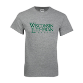 Grey T Shirt-Wisconsin Lutheran College Stacked