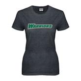 Ladies Dark Heather T Shirt-Warriors