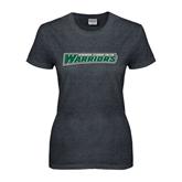 Ladies Dark Heather T Shirt-Wisconsin Lutheran College Warriors