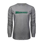 Grey Long Sleeve T Shirt-Warriors
