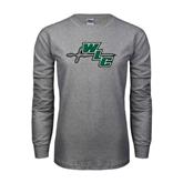 Grey Long Sleeve T Shirt-WLC Diagonal w/ Sword
