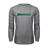 Grey Long Sleeve T Shirt-Wisconsin Lutheran College Warriors