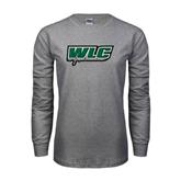 Grey Long Sleeve T Shirt-WLC w/ Sword