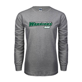Grey Long Sleeve T Shirt-Dad - Wisconsin Lutheran College Warriors